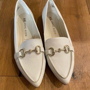 White Anne Klein loafers